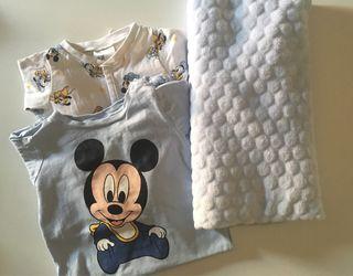 Pijamas bebé niño + manta