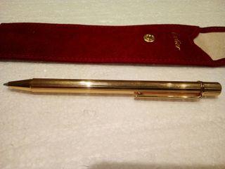 Bolígrafo Le must de Cartier chapado en oro