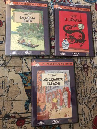 DVD Películas Las aventuras de Tintín. Las 3