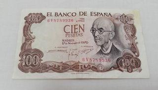 Cien pesetas Manuel de Falla