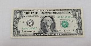 Un dolar americano serie 2009