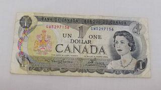 Un dolar de Canada 1973
