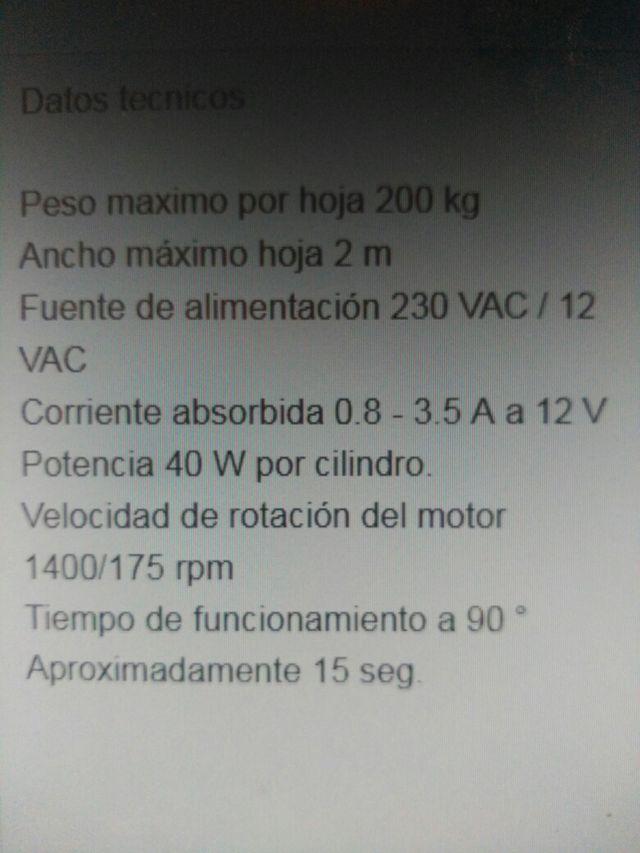 AUTOMATISMO PARA PUERTAS (DOS HOJAS)