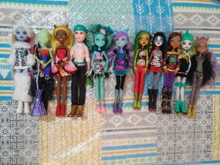 Lote muñecas monster high 14