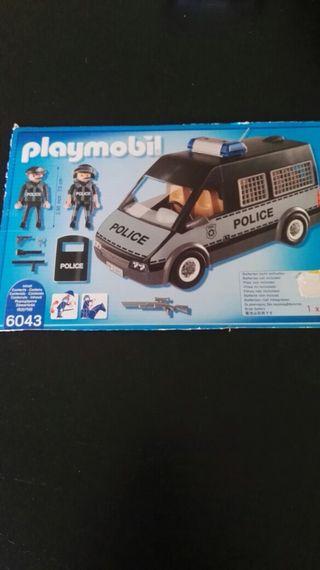Playmobil 6043. Furgón de policía con luces y soni