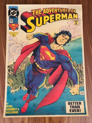 Póster vintage Superman