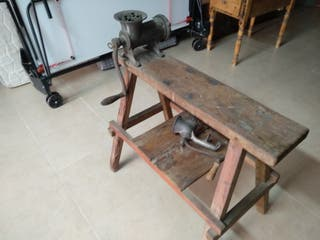 Maquina antigua de hacer chorizo
