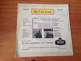 MY FAIR LADY VINILO
