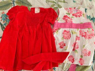 Vestido bebé niña d 6 a 9 meses