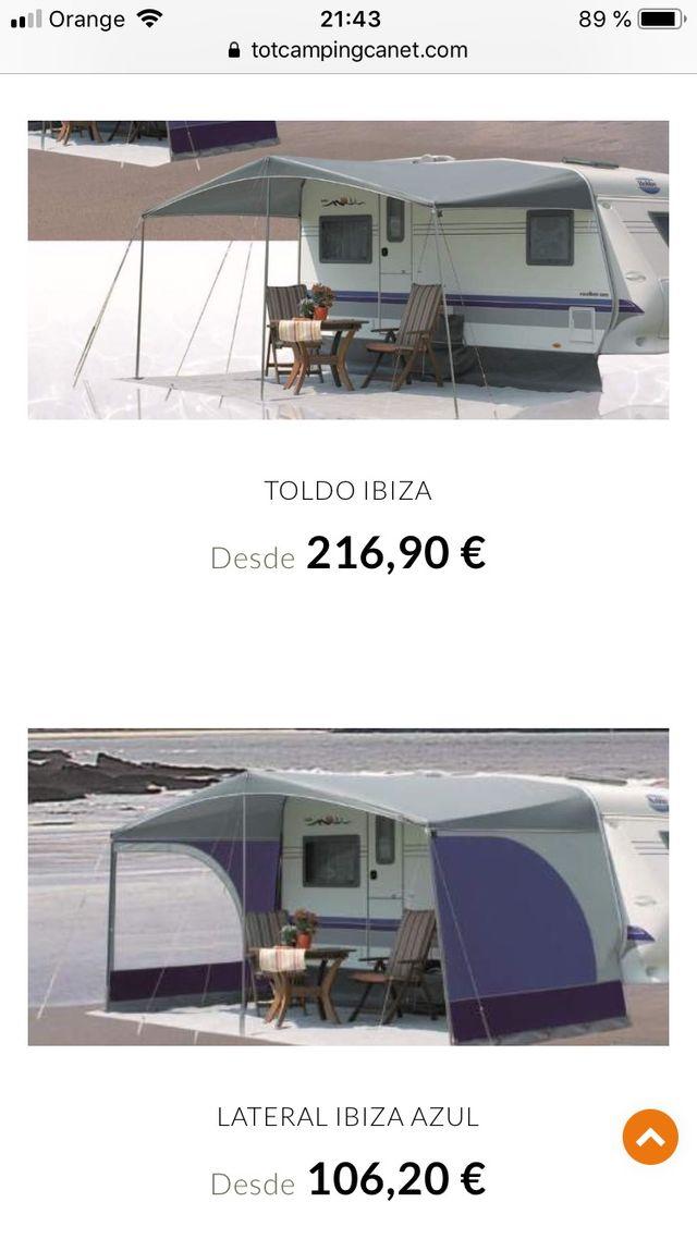 Toldo verano caravana