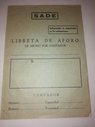 libreta de aforo antigua compañía electrica