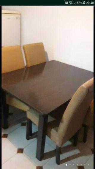 comedor ,mesa ikea y sillas
