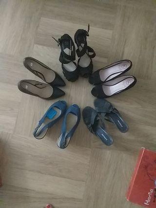 Rebajado!!!!Lote 5 pares de zapatos nuevos T39/40