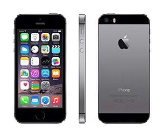 Iphone 5S gris, pantalla negra, 16gb