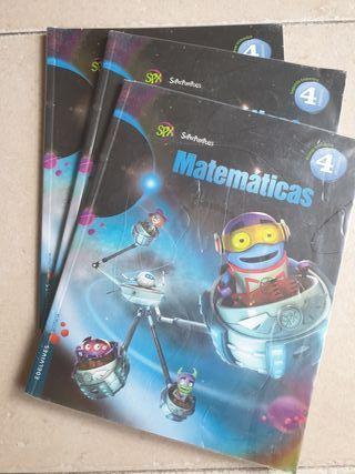 libro 4 primaria. matematicas