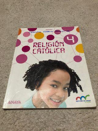 libro de religión catolica 4°primaria