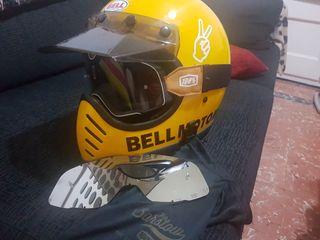 casco moto off road vintage retro cafe racer