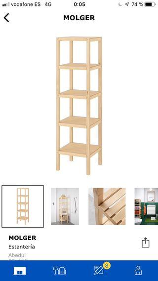 Estantería madera ikea