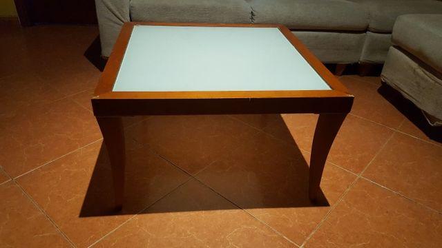 mesa baja cristal templado