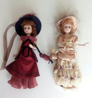 Lote 2 muñecas de porcelana