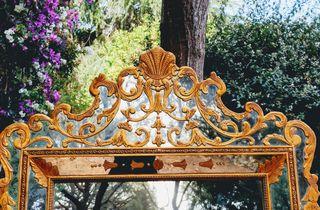 Impresionante Espejo Antiguo Veneciano