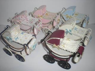 Cochecito carrito bebé escala 1:12 casa muñecas.