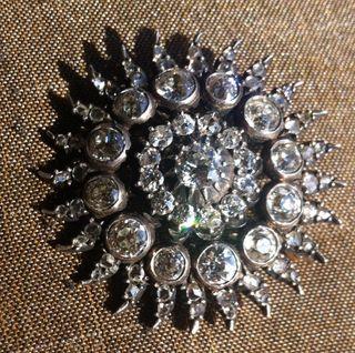 Broche victoriano de diamantes y oro