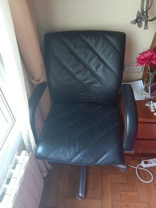 silla de oficina giratoria, piel 100%