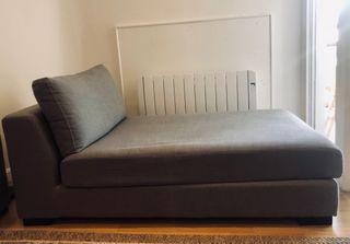 Chaise-longue gris