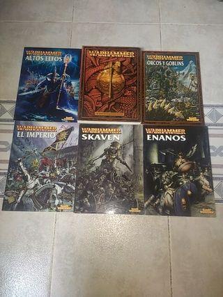Lote de Libros y Reglamento Warhammer Fantasy 6°