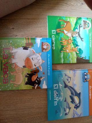 3 libros de animales