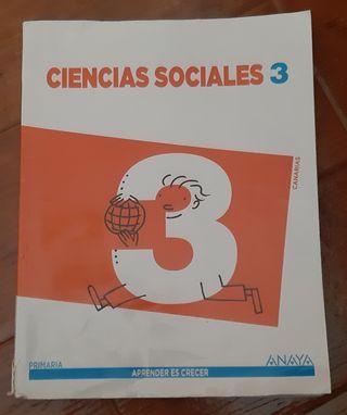 Libro Ciencia Sociales 3° de Primaria. Anaya