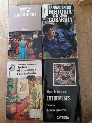 4 libros de bolsillo