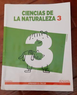 Libro Naturaleza 3° de Primaria. Anaya
