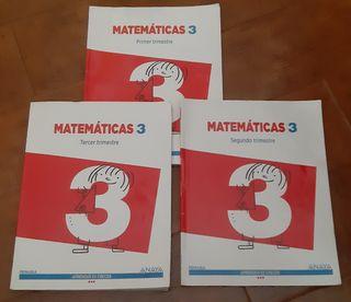 Libros de Matemáticas 3° de Primaria. Anaya