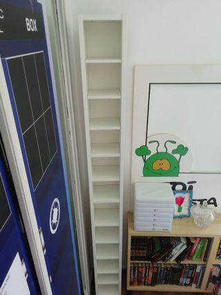 Estantería IKEA para CDs DVDs blanca