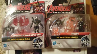 Muñecos Vengadores Thor y Maquina de Guerra