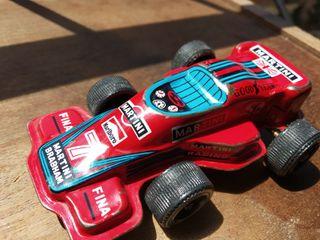 coche F1 hojalata vintage japones