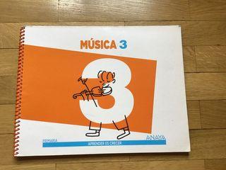 Libro de Música . 3º Primaria. Anaya