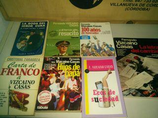 7 Libros de Fernando Vizcaíno Casas x 14 € los 7.