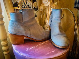 Botines azules de Zara