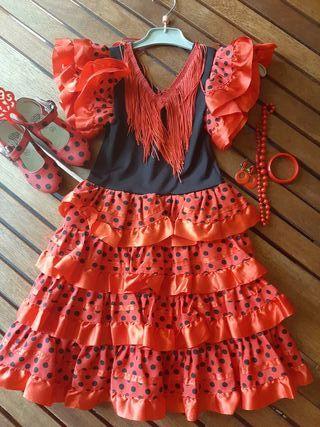 478f8b51f Traje flamenca negro de segunda mano en la provincia de Valencia en ...