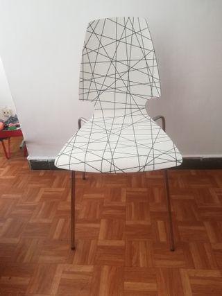 silla cromada grafic