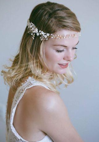 Tiara de novia ,diadema de novia ,tocado novia