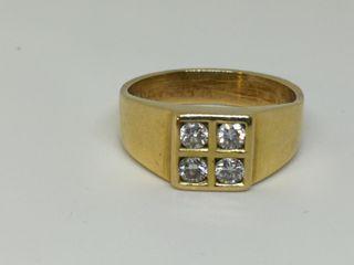 Anillo de ORO de 18kt con Diamantes E200607