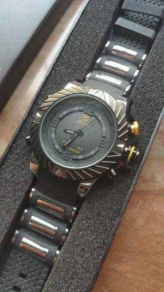 Goblin SHARK Reloj Deportivo Analógico y Digital