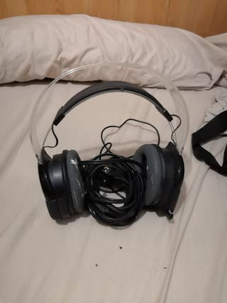 auriculares gaming afterglow pc ps3 con leds verde