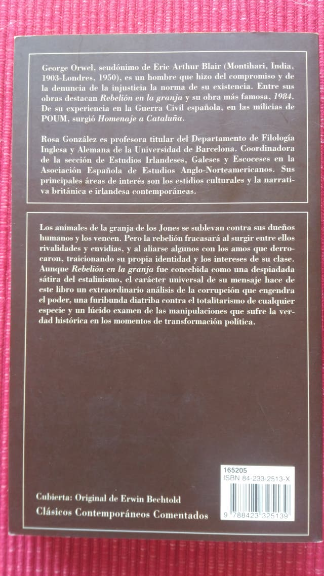 Pack dos libros George Orwell.