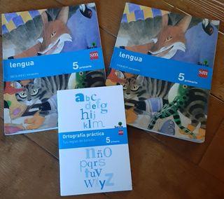 Libros Lengua 5° Primaria. SM