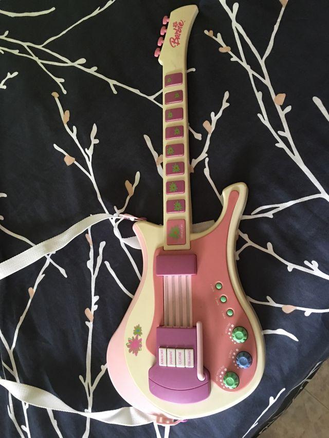 Guitarra juguete de barbie